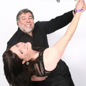 Woz and wife Janet (Season 9 Finale by LAPhotoParty.com)