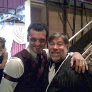 Tony and Woz backstage