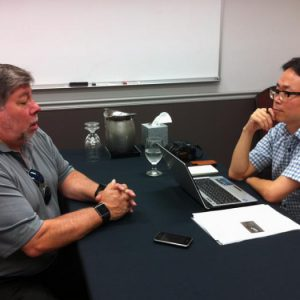 9/5/11 Woz was interviewed by Jang Seung-kyu from a Korean newspaper named Hankyung Business.
