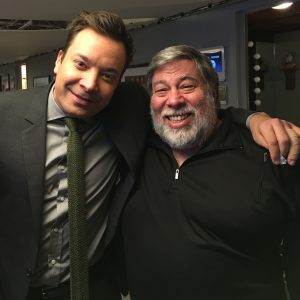 Jimmy Fallon and Woz